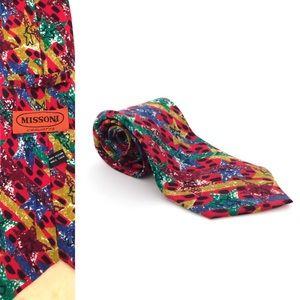 Vintage Missoni Men's star silk Neck tie
